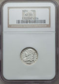 Bust Dimes: , 1834 10C Small 4 AU50 NGC. NGC Census: (15/208). PCGS Population:(20/150). CDN: $360 Whsle. Bid for problem-free NGC/PCGS ...