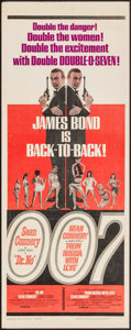 "Movie Posters:James Bond, Dr. No/From Russia with Love Combo (United Artists, R-1965). Insert (14"" X 36""). James Bond.. ..."