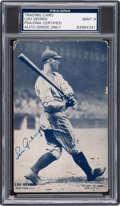 Baseball Collectibles:Others, 1928 Lou Gehrig Signed Exhibits PSA/DNA Mint 9....