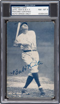 Baseball Collectibles:Others, 1928 Babe Ruth Signed Exhibits PSA/DNA NM-MT 8....