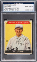 Baseball Collectibles:Others, 1933 Sport Kings Ty Cobb #1, Signed, PSA/DNA NM-MT 8....