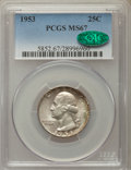 Washington Quarters, 1953 25C MS67 PCGS. CAC. PCGS Population: (77/0). NGC Census: (92/1). Mintage 18,500,000. ...