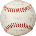 Baseball Collectibles:Balls, 1957 American League All-Star Team Signed Baseball. ...