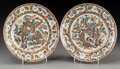 Asian:China Trade, A Pair of Chinese Canton Rose Hundred Butterfly PatternPorcelain Dishes. 7-3/4 inches diameter (19.7 cm). ... (Total: 2Items)