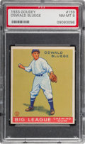 Baseball Cards:Singles (1930-1939), 1933 Goudey Oswald Bluege #159 PSA NM-MT 8....