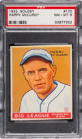 Baseball Cards:Singles (1930-1939), 1933 Goudey Harry McCurdy #170 PSA NM-MT 8 - None Higher....