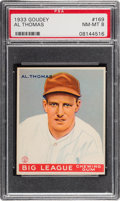 Baseball Cards:Singles (1930-1939), 1933 Goudey Al Thomas #169 PSA NM-MT 8 - None Higher....