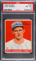 Baseball Cards:Singles (1930-1939), 1933 Goudey Jack Russell #167 PSA NM-MT 8 - Only One Higher....