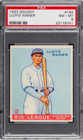 Baseball Cards:Singles (1930-1939), 1933 Goudey Lloyd Waner #164 PSA NM-MT 8 - Only Two Higher....