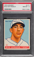 Baseball Cards:Singles (1930-1939), 1933 Goudey Walter French #177 PSA NM-MT 8. ...
