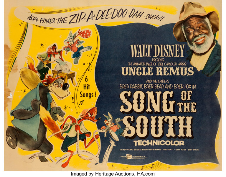 song of the south theatrical poster walt disney 1956 lot