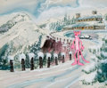 Animation Art:Production Cel, Pink Panther Production Cel and Painted Background(DePatie-Freleng, c. 1960s-70s)....