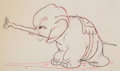 Animation Art:Production Drawing, Mickey's Elephant Animation Drawing and Animator's Notes(Walt Disney, 1936). ... (Total: 2 )