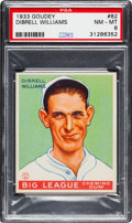 Baseball Cards:Singles (1930-1939), 1933 Goudey Dibrell Williams #82 PSA NM-MT 8 - None Higher....