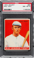 Baseball Cards:Singles (1930-1939), 1933 Goudey Phil Todt #86 PSA NM-MT 8....