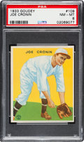 Baseball Cards:Singles (1930-1939), 1933 Goudey Joe Cronin #109 PSA NM-MT 8 - Only One Higher....