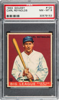 Baseball Cards:Singles (1930-1939), 1933 Goudey Carl Reynolds #120 PSA NM-MT 8 - None Higher....