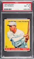 Baseball Cards:Singles (1930-1939), 1933 Goudey Val Picinich #118 PSA NM-MT 8 - None Higher....