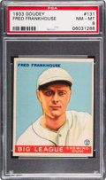 Baseball Cards:Singles (1930-1939), 1933 Goudey Fred Frankhouse #131 PSA NM-MT 8 - None Higher....