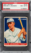 Baseball Cards:Singles (1930-1939), 1933 Goudey Travis C. Jackson #102 PSA NM-MT 8 - One Higher....