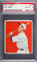 Baseball Cards:Singles (1930-1939), 1933 Goudey Joe Moore #126 PSA NM-MT 8....