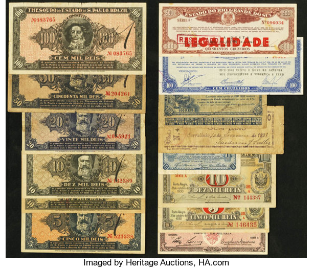 World Currency A Group Of Local And Provincial Issues From Brazil