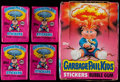 Non-Sport Cards:Singles (Pre-1950), 1985 Topps Garbage Pail Kids Series 1 Collection (56) With Empty Wax Box and 43 Wrappers!...