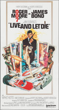 "Movie Posters:James Bond, Live and Let Die (United Artists, 1973). Three Sheet (41"" X 81"").James Bond.. ..."