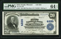 National Bank Notes:Missouri, Saint Joseph, MO - $20 1902 Plain Back Fr. 657 The First NB Ch. #4939. ...