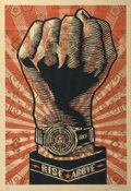 Fine Art - Work on Paper:Print, Shepard Fairey (b. 1970). Rise Above Fist, 2006. Screenprintin colors. 39 x 26-3/8 inches (99.1 x 67.0 cm) (image). 42-...