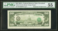 Error Notes:Third Printing on Reverse, Third Printing on Back Error Fr. 2121-D $50 1981A Federal Reserve Note. PMG About Uncirculated 55.. ...