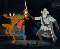Animation Art:Production Cel, Scooby-Doo and Shaggy Signed Production Cel (Hanna-Barbera, c.1980s)....