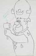 Animation Art:Production Drawing, Fred Flintstone Animation Drawing (Hanna-Barbera, c.1970s-1980s)....