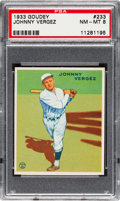 Baseball Cards:Singles (1930-1939), 1933 Goudey Johnny Vergez #233 PSA NM-MT 8....