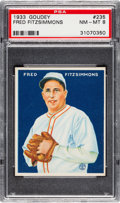 Baseball Cards:Singles (1930-1939), 1933 Goudey Fred Fitzsimmons #235 PSA NM-MT 8....