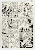 """Original Comic Art:Panel Pages, George Perez and Mike DeCarlo Tales of the Teen TitansAnnual #3 Story Page 28 """"Judas Contract Book 4"""" Original Ar..."""