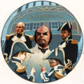 "Original Comic Art:Illustrations, Keith Birdsong Star Trek Generations ""Worf's Ceremony""Collector Plate Painting Original Art (Hamilton Collection,..."