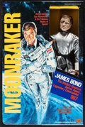 "Movie Posters:James Bond, Moonraker: James Bond (Mego Corp, 1979). 12.5"" Action Figure InOriginal Packaging (9"" X 13.5"" X 2.25"" ) & Patches (2) (Diam...(Total: 3 Items)"