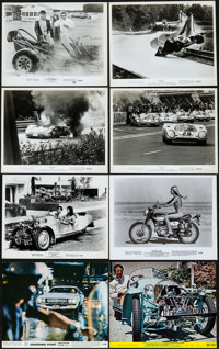"""Le Mans & Others Lot (National General, 1971). Photos (16) & Mini Lobby Cards (6) (8"""" X 10"""")..."""
