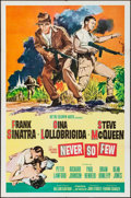 """Movie Posters:War, Never So Few & Others Lot (MGM, 1959). One Sheets (2) (27"""" X41"""") & International One Sheet (28"""" X 42""""). War.. ... (Total: 3Items)"""
