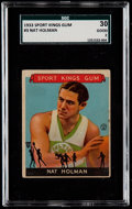 Basketball Cards:Singles (Pre-1970), 1933 Sport Kings Nat Holman #3 SGC 30 Good 2....