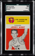 Basketball Cards:Singles (Pre-1970), 1961 Fleer Jerry West #43 SGC 50 VG/EX 4....