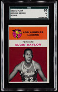 Basketball Cards:Singles (Pre-1970), 1961 Fleer Elgin Baylor #3 SGC 60 EX 5....