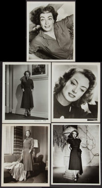 "Joan Crawford Lot (1950s). Portrait Photos (5) (8"" X 10""). Miscellaneous. ... (Total: 5 Items)"