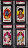 Basketball Cards:Lots, 1969 Topps Basketball PSA Graded Quartet (4)....