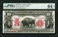 Large Size:Legal Tender Notes, Fr. 122 $10 1901 Legal Tender PMG Choice Uncirculated 64 EPQ.. ...
