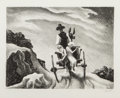Fine Art - Work on Paper, Thomas Hart Benton (American, 1889-1975). Goin' Home, 1937.Lithograph. 9-1/4 x 11-7/8 inches (23.5 x 30.2 cm) (image). ...