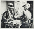Prints & Multiples, Thomas Hart Benton (American, 1889-1975). Discussion, 1969. Lithograph. 9-3/4 x 12 inches (24.8 x 30.5 cm). Ed. 250. Sig...