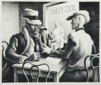 Thomas Hart Benton (American, 1889-1975) Discussion, 1969 Lithograph 9-3/4 x 12 inches (24.8 x 30