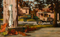 Fine Art - Painting, American, Robert Byerley (American, 1947). First Break, 1976. Oil onboard. 16 x 26 inches (40.6 x 66.0 cm). Signed and dated lowe...